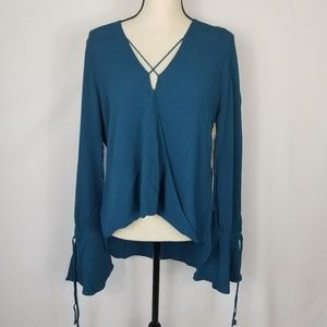 NWT Band Of Gypsies Free Fallin Faux Wrap Top